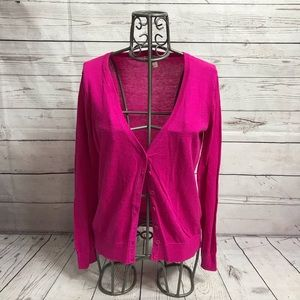 Forever 21 Hot Pink Cardigan Sweater